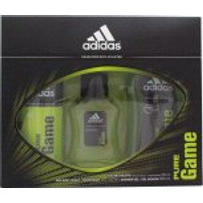 Adidas Pure Game Gift Set 50ml EDT   150ml Body Spray   250ml Shower Gel - 3614224505011