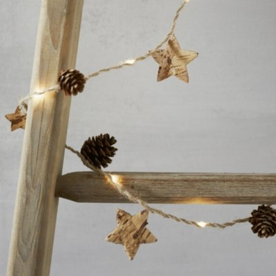 Lit Pinecone Christmas Fairy Lights, Clear