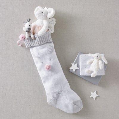 Jingle Reindeer Christmas Stocking, Pink