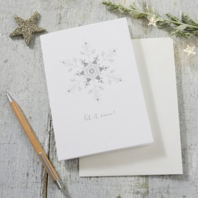 Let It Snow! Christmas Card, White