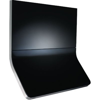CDA 3C9SS 90cm Wide Curved Glass Designer Extractor In Stainless Steel - 5060143316074