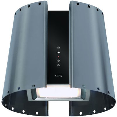 CDA 3L9SS 55cm Wide Lantern Style Designer Extractor In Stainless Steel - 5060143316067