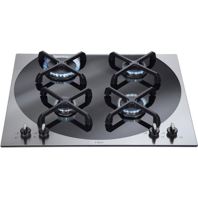 5060143310973: CDA 4Q4SS Q style Four Burner Gas Hob Stainless Steel