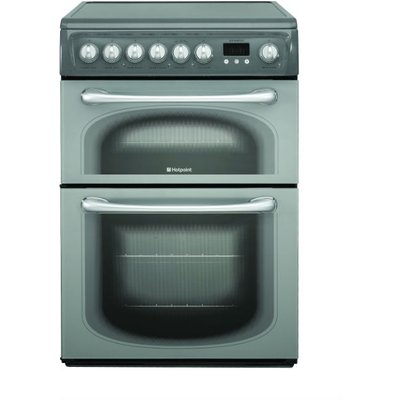 Hotpoint 60HEGS 60cm Wide Electric Double Oven Cooker with Ceramic Hob in Graphite - 5016108810385