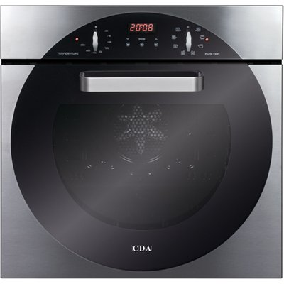 CDA 6Q5SS 60cm Electric Single Oven in Stainless Steel with With 5Yr Parts Guarantee - 5060143310423