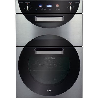 CDA 9Q6SS 60cm Electric Double Oven in Stainless Steel with With 5Yr Parts Guarantee - 5060143310577