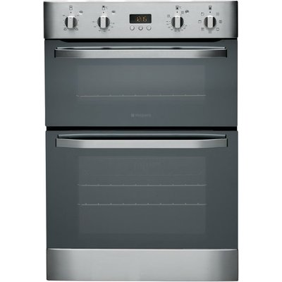 Hotpoint DH93CXS 60cm Wide Built In Electric Double Oven in Stainless Steel - 5016108805398
