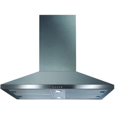 CDA ECHK90SS 90cm Wide Chimney Island extractor In Stainless Steel - 5060143318207