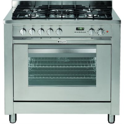 Hotpoint EG900XS 90cm Wide Range Cooker in Stainless Steel - 5016108809129