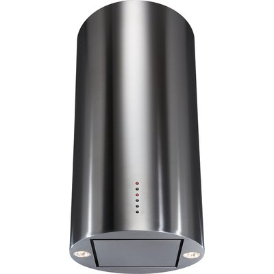 CDA EVCK4SS 40cm Cylinder Island Hood in Stainless Steel With 5 Year Parts Guarantee 5060143311826