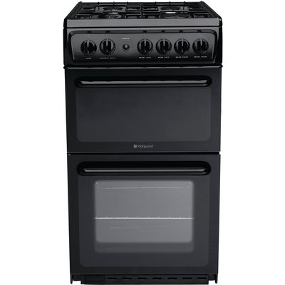 5016108623510 | Hotpoint HAG51K 50cm Freestanding Gas Cooker in Black with FSD
