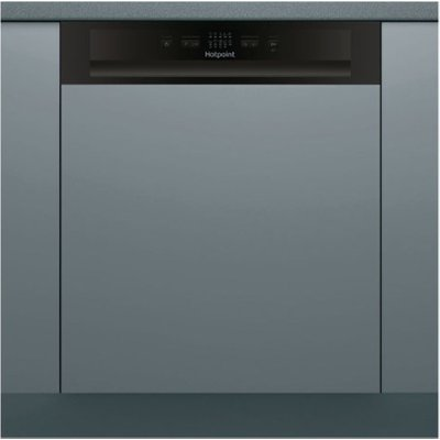 Hotpoint HBC2B19 Full Size Semi Integrated Dishwasher with 13 Place Settings in Black - 5054645052233