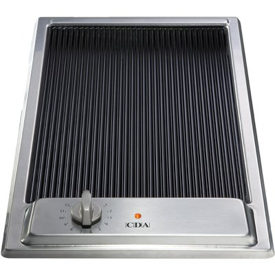 CDA HCC310SS 30cm Ceramic Griddle in Stainless Steel With 5Yr Parts Guarantee 5060143311253