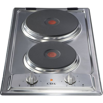 CDA HCE340SS Domino 2 Plate Electric Hob   Stainless Steel 5060143311284