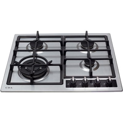 CDA HG6350SS 4 Burner Gas Hob   Stainless Steel - 5055833402342