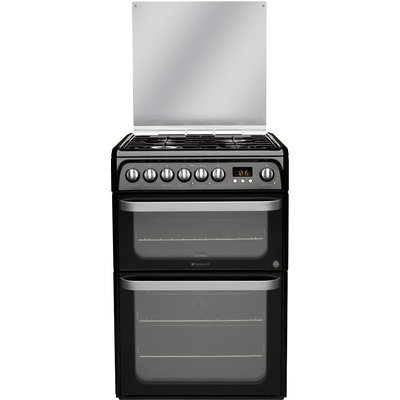 5016108810040 | Hotpoint HUD61KS Dual Fuel Cooker  Black