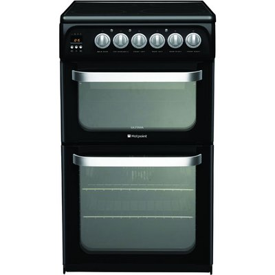 Hotpoint HUE52KS 50cm Wide Electric Cooker in Black - 5016108810156