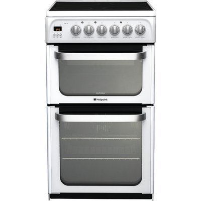 Hotpoint HUE52PS 50cm Freestanding Electric Cooker Polar White - 5016108810163