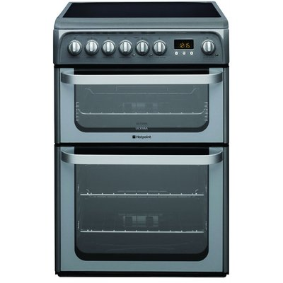 Hotpoint HUE61GS 60cm Freestanding Electric Cooker in Graphite - 5016108810200