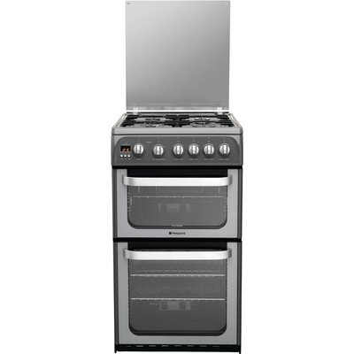 Hotpoint Ultima HUG52G Gas Cooker  Graphite - 5016108691809