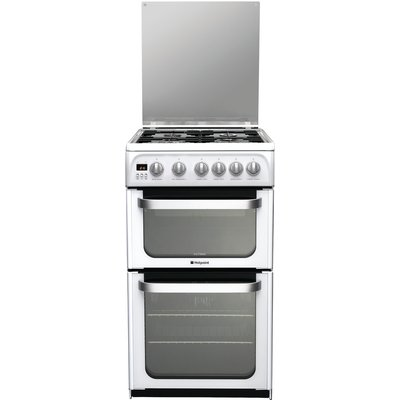 Hotpoint HUG52P 50cm Freestanding Gas Cooker in Polar White - 5016108630419