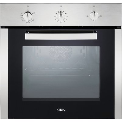 CDA SG120SS 60cm Gas Single Oven in Stainless Steel with Free 5Yr Parts 2Yr Labour Guarantee via Registration - 5055833400300