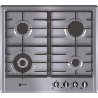 4242004117025: Neff T22S46N0 Series 2 60cm Gas Hob in Stainless Steel with Cast Iron Pan Supports