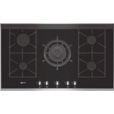 4242004128311 | Neff T69S76N0 Extra wide gas hob on black ceramic glass with stainless steel trim