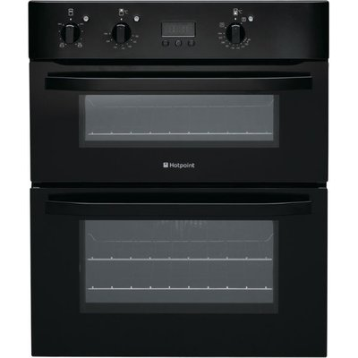 Hotpoint UH53KS 60cm Wide Built Under Electric Double Oven in Black - 5016108805367