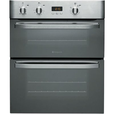 Hotpoint UHS53XS 60cm Wide Built Under Electric Double Oven in Stainless Steel - 5016108805381