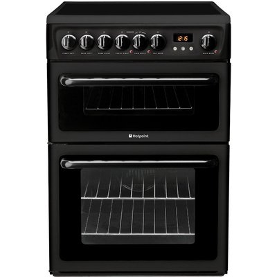 Hotpoint HAE60KS 60cm Freestanding Electric Cooker Black - 5016108810118