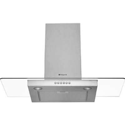 Hotpoint HDF95SAB 90cm Flat Glass Chimney Hood 5016108821855