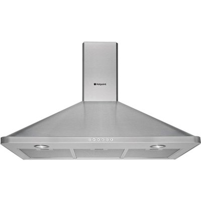 5016108821916 | Hotpoint HHP95CM 90cm Built In Cooker Chimeny Hood in Stainless Steel