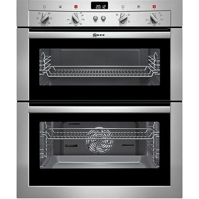 Neff U17M42N3GB Double Built Under Electric Oven in Stainless Steel - 4242004151821