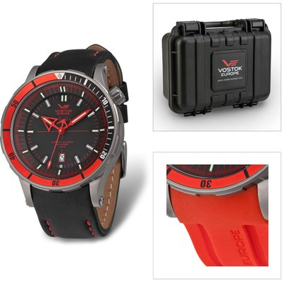 Vostok Europe Gents Limited Edition Anchar Titanium NH35  Automatic Watch with Leather and Silicon S