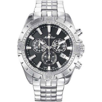 Mathey-Tissot  Gents Bolton Swiss Made Chronograph Watch with Stainless Steel Strap 379876