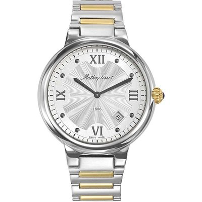Mathey-Tissot  Gents Le Blanc Swiss Made Watch with Stainless Steel Strap 380326