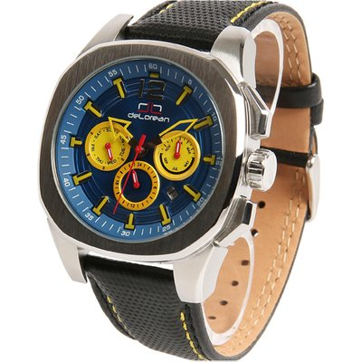 deLorean Gent's Limited Edition Automatic Watch with Genuine Leather Strap 438921