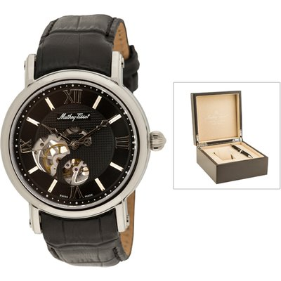 Mathey-Tissot Automatic with Skeleton Dial, Leather Strap, Luxury Box and Pen 439301