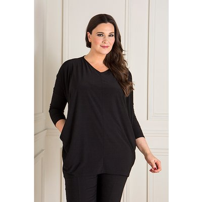 Styled By V-Neck Pocket Tunic Top 440514