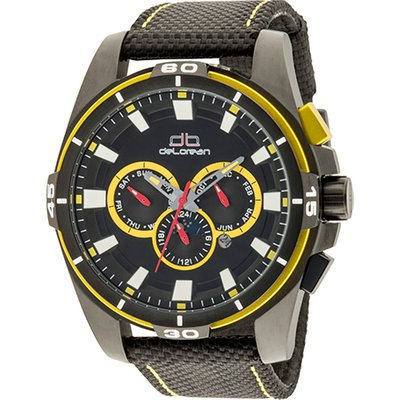 deLorean Gent's Limited Edition Automatic Fast Lap Watch with Leather Nylon Strap 440773