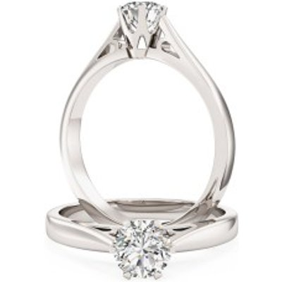 A stunning Round Brilliant Cut solitaire diamond ring in platinum