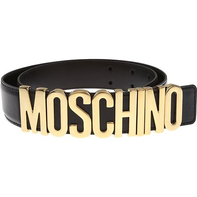 Moschino Gürtel, Schwarz, Echtes Leder