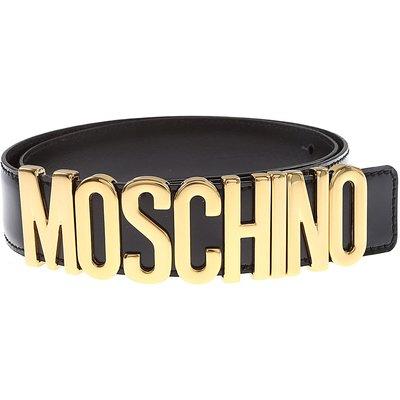 Moschino Damengürtel, Schwarz, Gebürstetes Leder