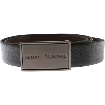 Armani Exchange Gürtel, Reversible, Schwarz