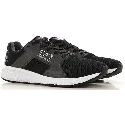 EMPORIO ARMANI Emporio Armani Sneaker für Herren, Tennisschuh, Turnschuh Günstig im Sale, Schwarz, Polyester, 2017, 40 41 44 45