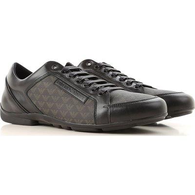 EMPORIO ARMANI Emporio Armani Sneaker für Herren, Tennisschuh, Turnschuh Günstig im Sale, Schwarz, Leder, 2017, 42.5 43 44 45