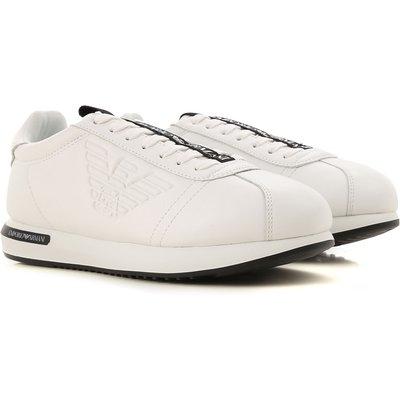 EMPORIO ARMANI Emporio Armani Sneaker für Herren, Tennisschuh, Turnschuh Günstig im Sale, Weiss, Leder, 2017, 40 42.5 44 44.5 46.5 47