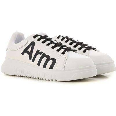 EMPORIO ARMANI Emporio Armani Sneaker für Herren, Tennisschuh, Turnschuh Günstig im Sale, Weiss, Leder, 2017, 45 46.5