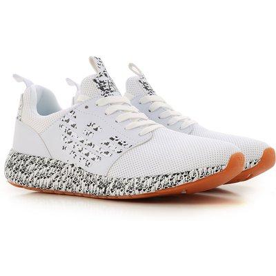 EMPORIO ARMANI Emporio Armani Sneaker für Herren, Tennisschuh, Turnschuh Günstig im Sale, Weiss, Nylon Netzgewebe, 2017, 42.5 43 44 45